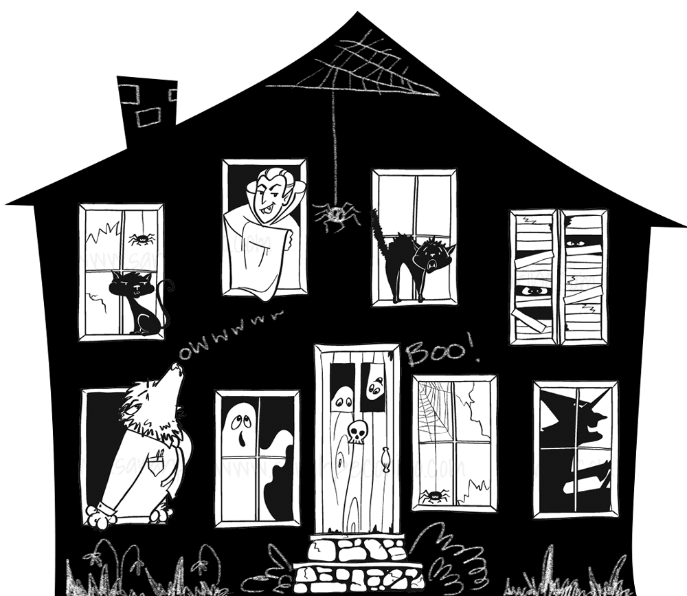 Sarah Pecorino IllustrationDIY Mini Haunted HouseMilk Carton