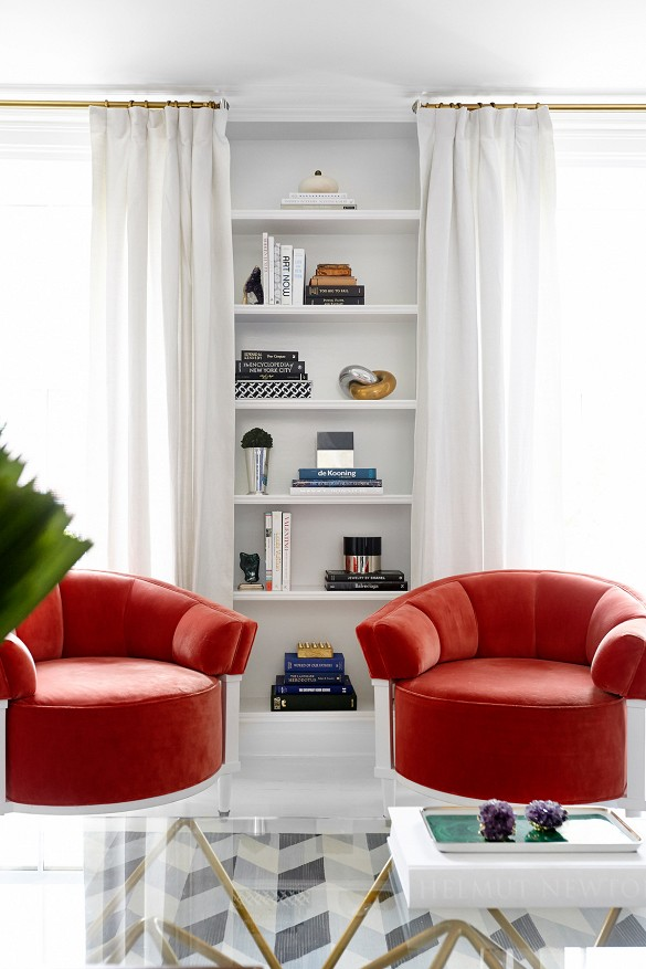 Coral Living Room Ideas
