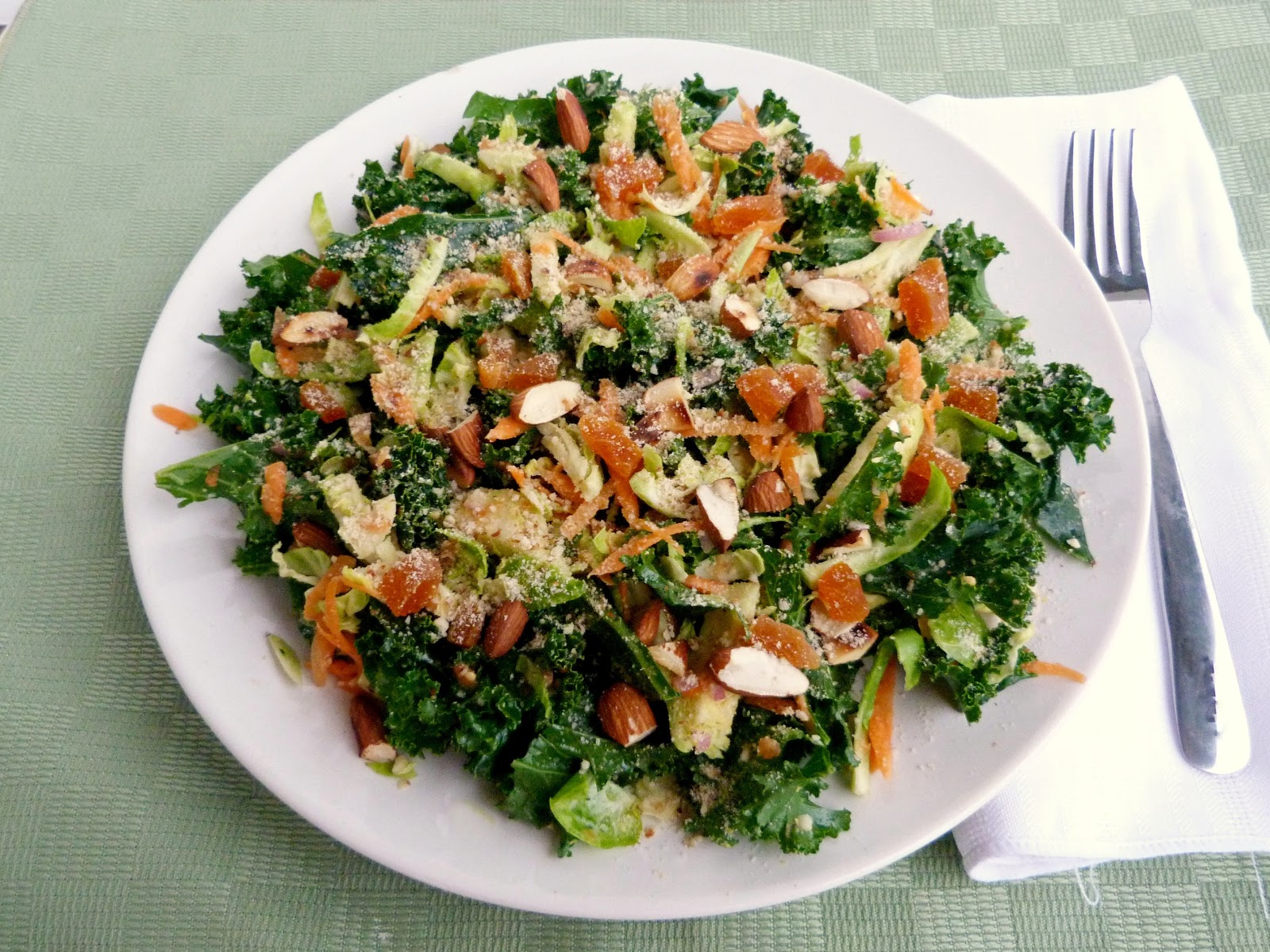 Vanilla  SpiceRaw Kale, Almond and Brussels Sprout Salad