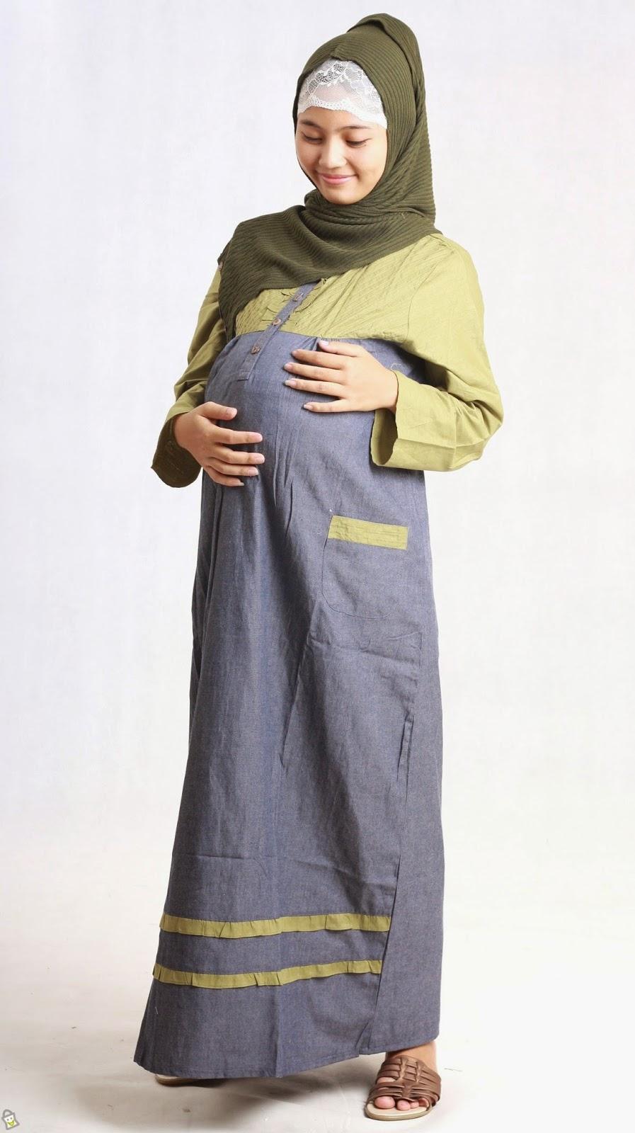 10 Trend Model Baju Hamil Muslim Terbaru