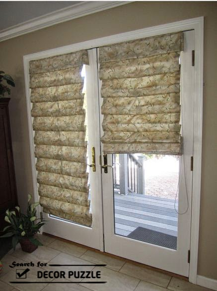 French blinds and curtains for interior door