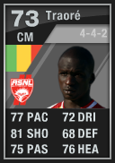 Bakaye Traore (IF1) 73 - FIFA 12 Ultimate Team Card