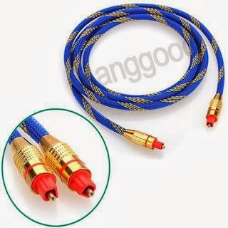 Premium 2M Toslink Digital Optical Fiber Audio Gold Cable TV Cord 6.5FT OD 5.0