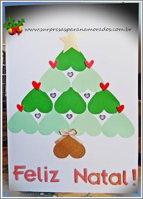 cartão romântico de natal