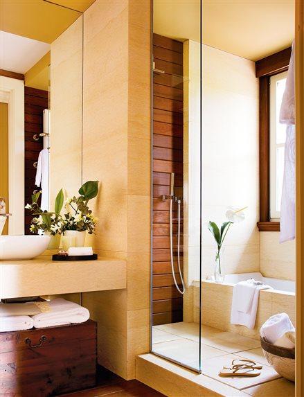 Decotips ducha y ba era en menos de 10 m virlova style - Banos con ducha y banera ...