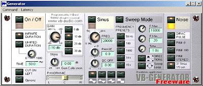 VB generator, generatore di segnali audio di test