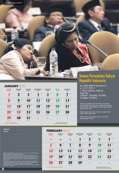Kalender DPR Tahun 2012
