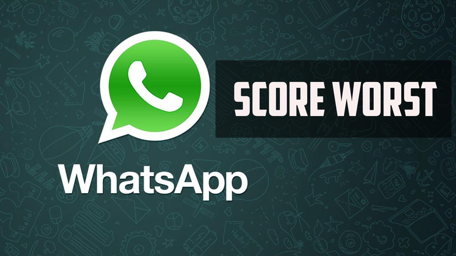 whatsapp worst score