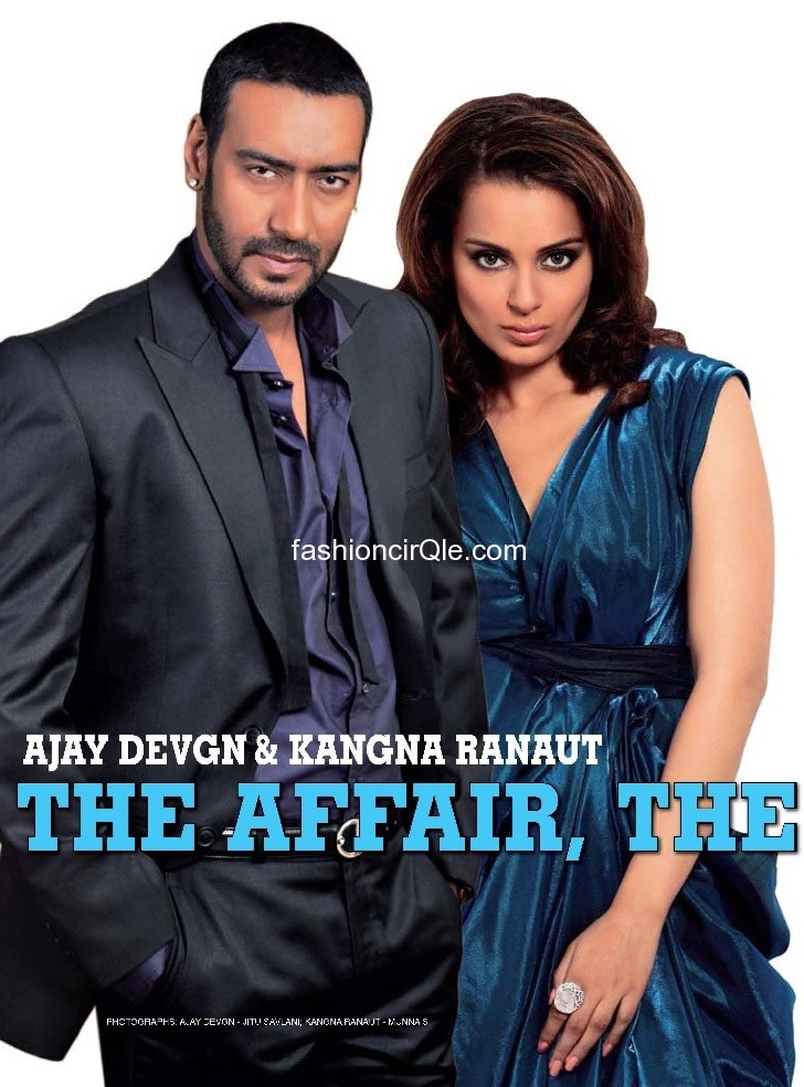 Kanagan and ajay featured on  the pages of stardust - Kangana Ranaut with Ajay Devgan Stardust June 2011
