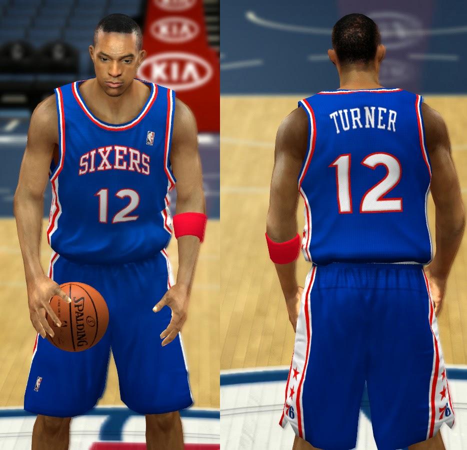NBA 2K14 Complete Philadelphia 76ers Jerseys Patch Pack - HoopsVilla ff91864c5