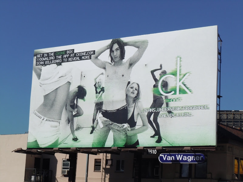 CK One Box undressing billboard