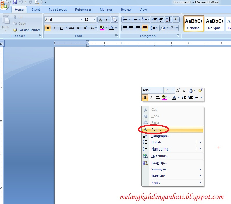 how to set default font in word 2007