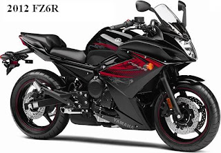 2012 Yamaha FZ6R black color