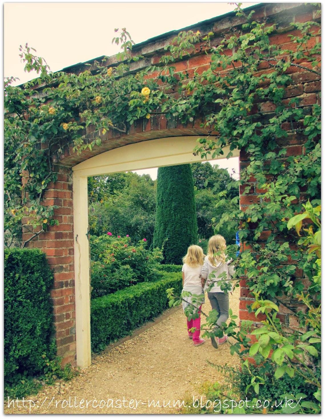 gate into walled garden, National Trust Mottisfont