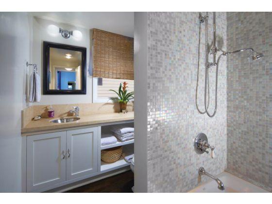Master Bathroom Beach House to da loos: warren buffet`s old vacation home bathroom in laguna