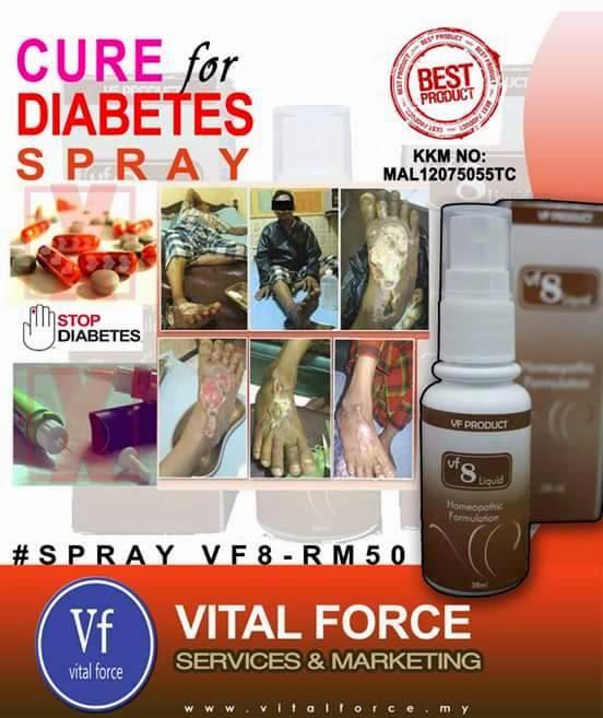 VF 08 Liquid Penawar Penyakit Kencing Manis