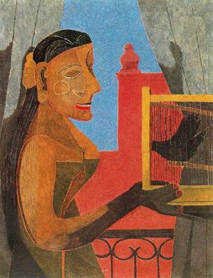 Dona amb gàbia d'ocells (Rufino Tamayo)