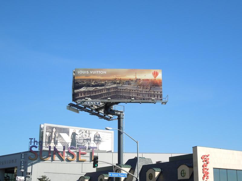 Louis Vuitton hot air balloon billboard