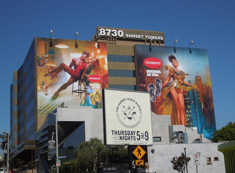 Giant Havaianas flip flops billboards