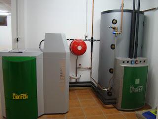 instalacion caldera pellets deposito
