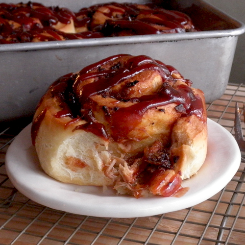 Food Pusher: The Savory Cinnamon Pulled Pork Cinnamon Roll - Fair ...