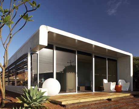 Moderne woning ideeën: modulair huis exterieur ontwerpen modulair