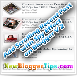 Add Animated Scrolling Recent Post Widget In Blogger V 2