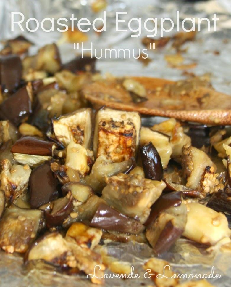 """Roasted Eggplant """"Hummus"""" Dip"""