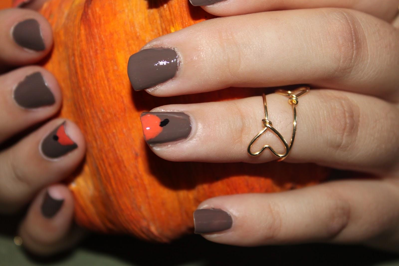 Pumpkin Nails | A Beautiful Heart