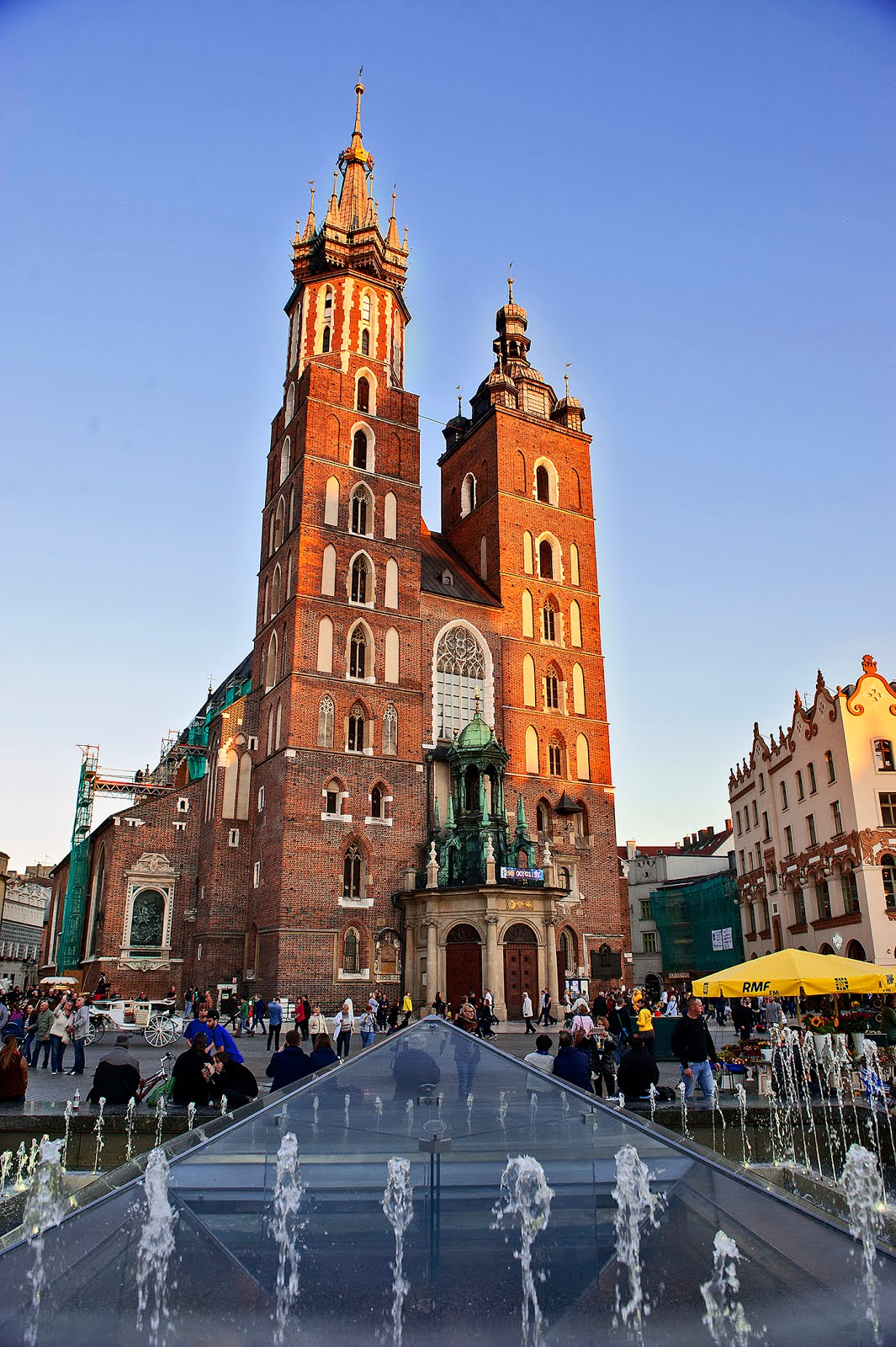 Krakow Poland Old Town Square St. Mary's Basilica