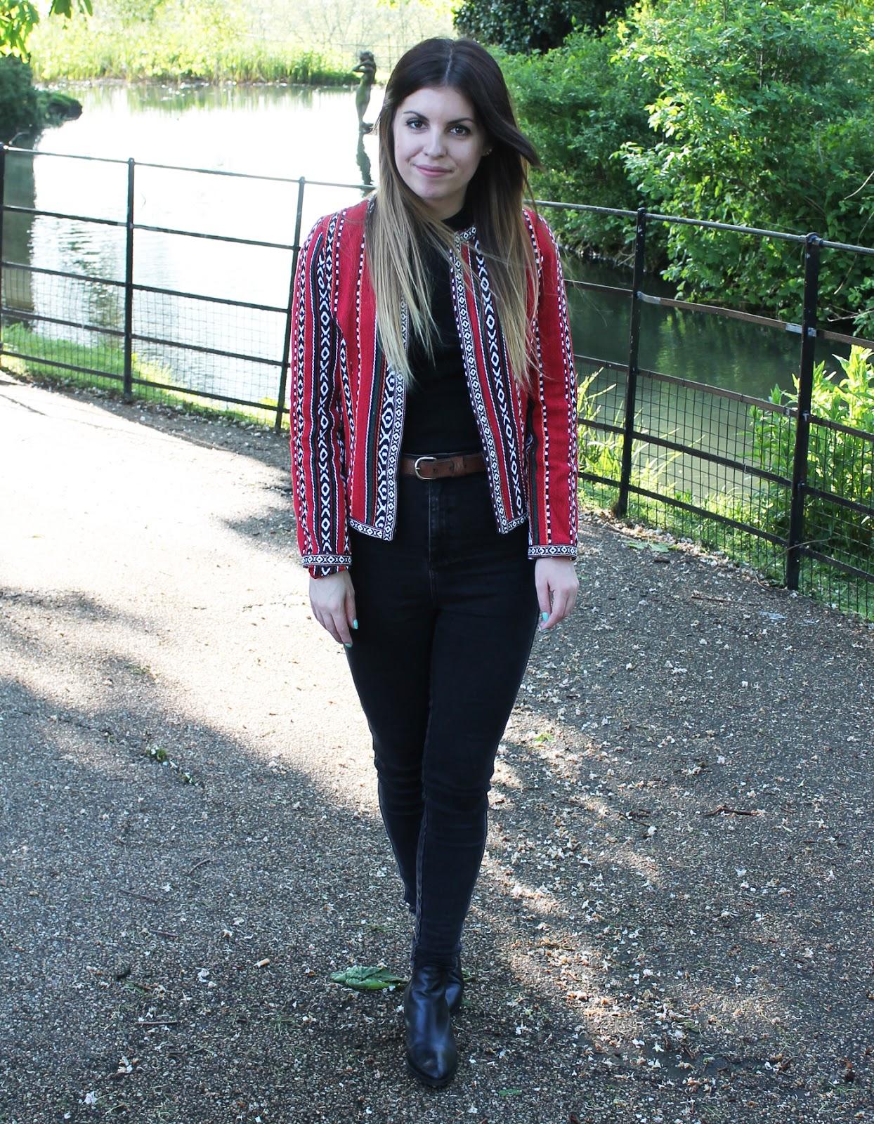 Sweet Monday, UK fashion and lifestyle blog, outfit, ootd, boohoo Kyle bead jacket