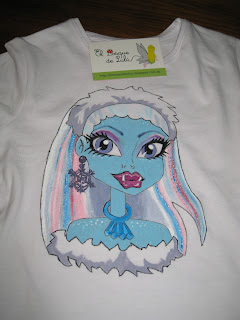 camiseta-monster-high-pintada-mano