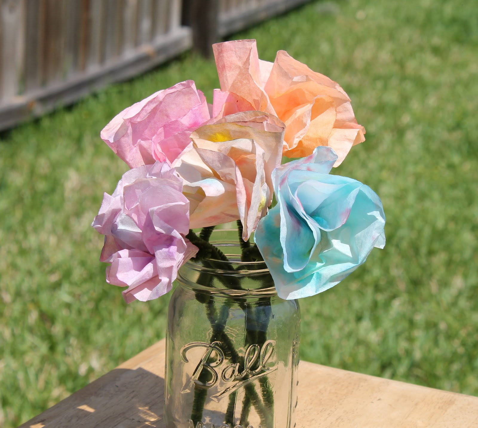 Desperate Craftwives Kid Crafted Coffee Filter Flowers