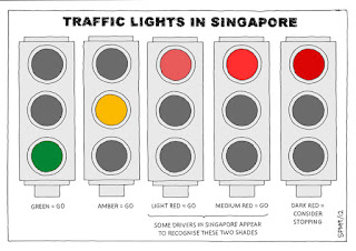 Traffic lights in Singapore