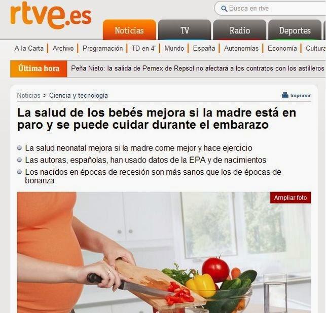 Mujer desempleada, recién nacido más sano