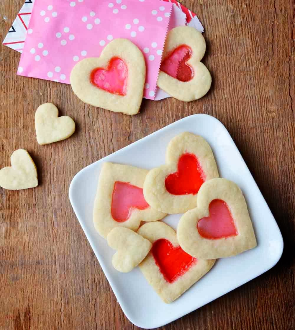 Valentine's Day Stained Glass Cookies Recipe