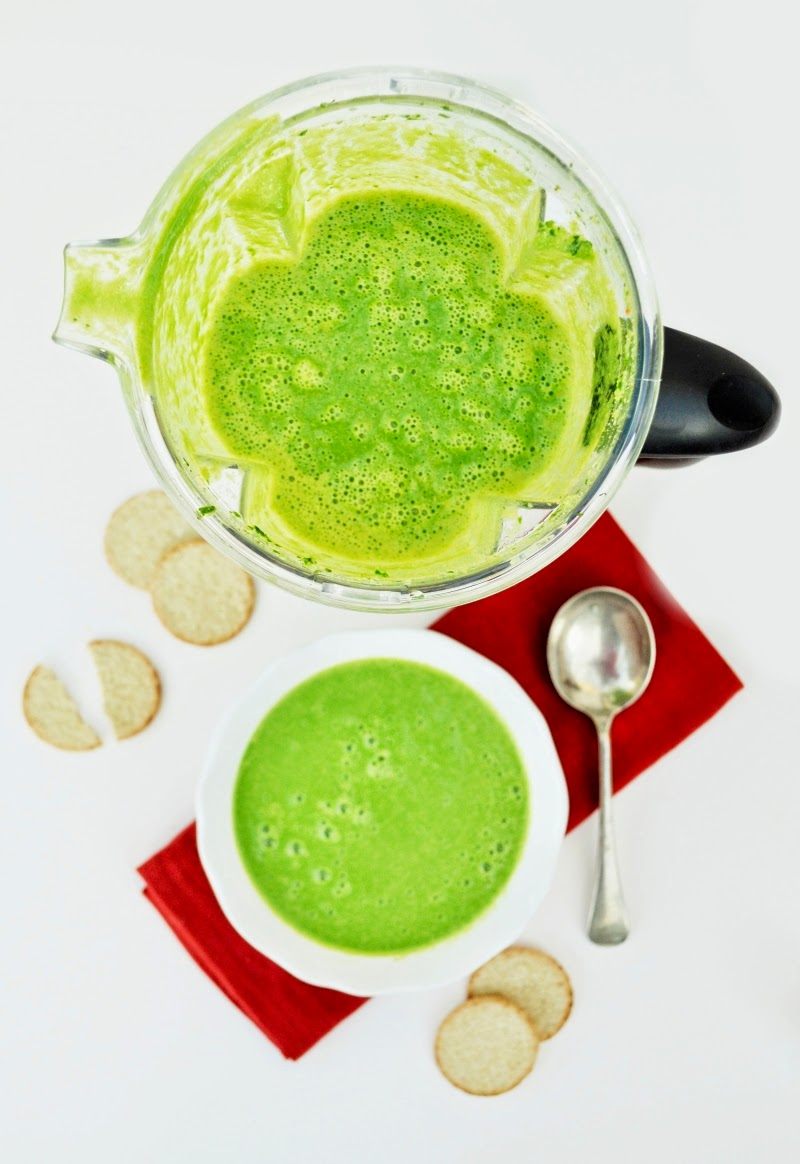 Quick green freezer soup