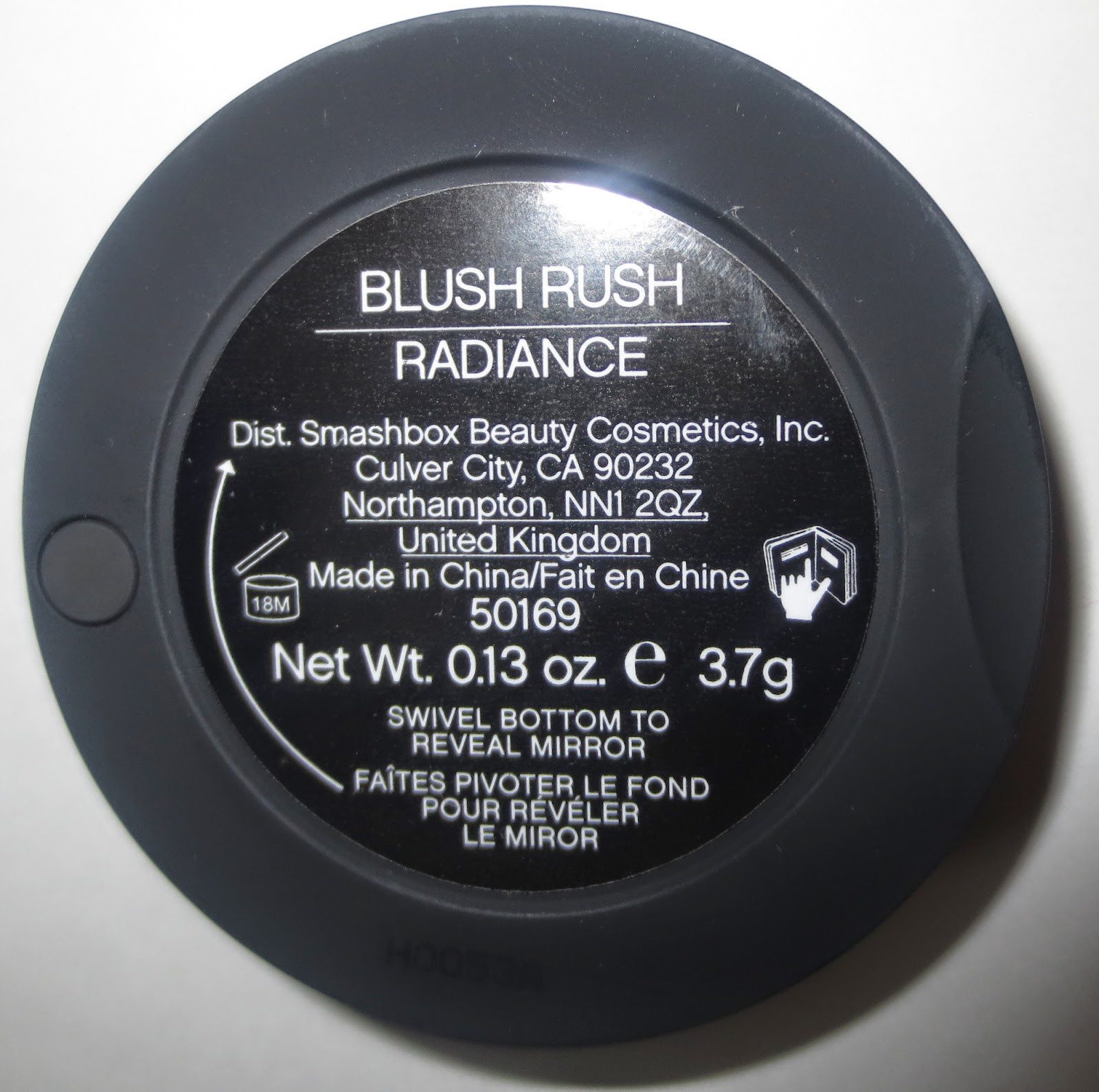 Smashbox Blush Rush in Radiance label