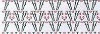 Схема для вязания юбки Ажур крючком