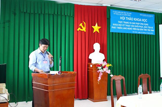 TS. Vũ Quang Hà - Chủ tịch Hội đồng Liên hiệp Khoa học Kinh tế - Đô thị Nam bộ phát biểu khai mạc Hội thảo