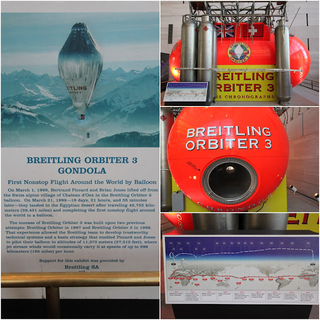 Breitling Orbiter at Space and Air Museum in Washington DC, USA