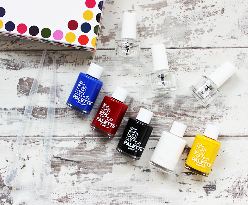 Palette London Create your own nail polish kit contents