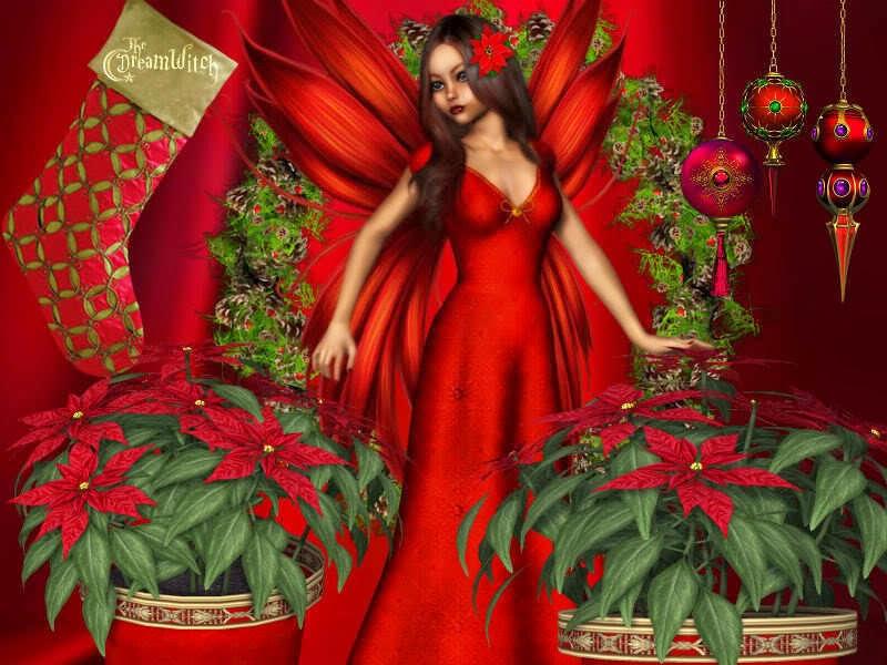 DragonsFaeriesElves&theUnseen : Christmas Fairy Art-2014