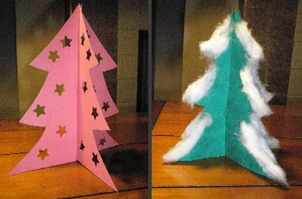 Enhaced decorating paper tree 3D