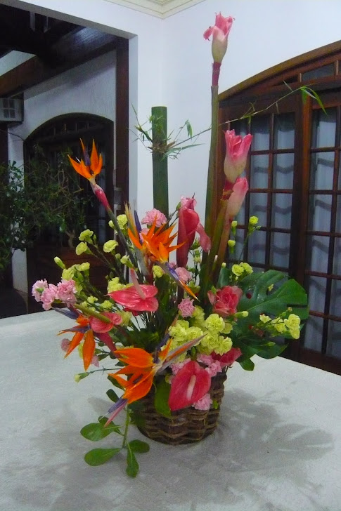 Evento com flores Tropicais - Guaramirim- SC .