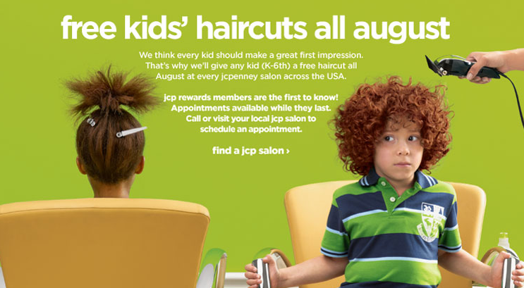 Free haircuts for kids