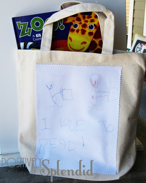 Got Books? Give To Those In Need {free tote pattern}