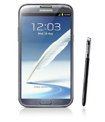 Galaxy Note 2 with stylus pen