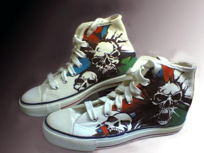 Sepatu Lukis Tengkorak  joe 205 Cowok,sepatu lukis,sepatu lukis cowo,sepatu lukis keren