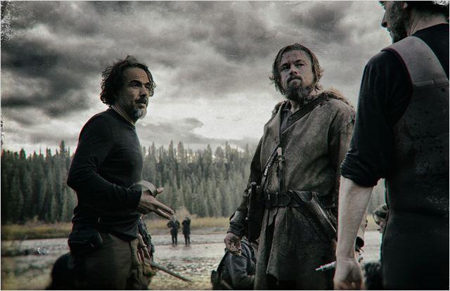 """Iñárritu y DiCaprio en el rodaje de """"El Renacido"""""""